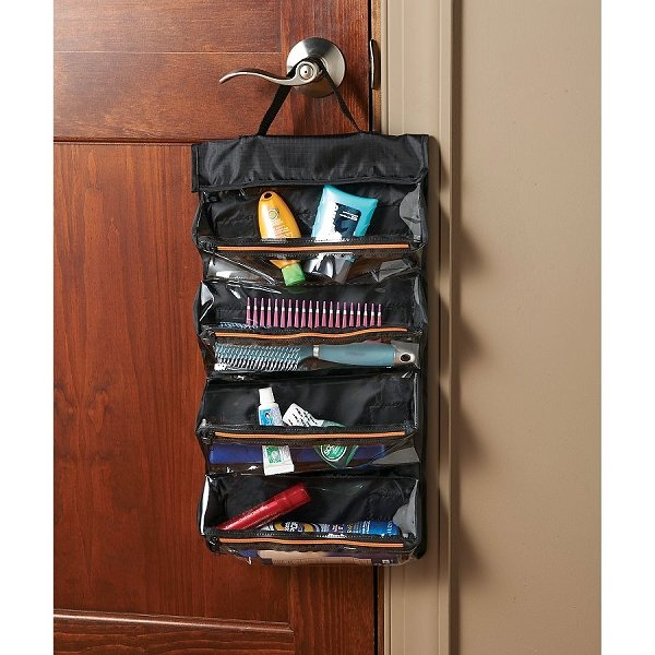 Toilery organizer for travelers.