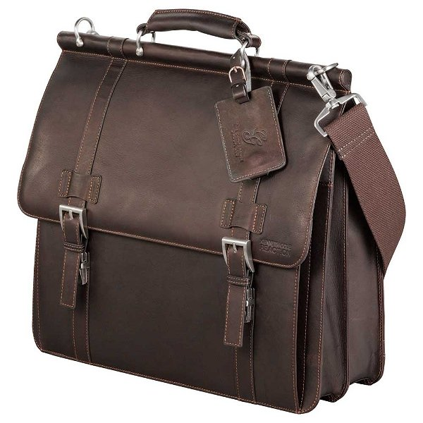 Kenneth Cole Dowel leather briefcase.