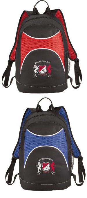 Two-Tone Canvas Backpacks Image 2