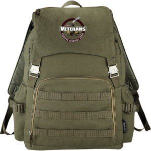 Vintage Military Computer Backpack Image 3