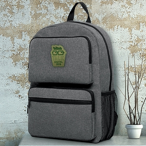 Downtown Heather Dual Pocket Backpack