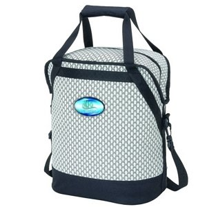 Woven Wicker Oval Cooler Bag - Water Tight Compartment Image 2