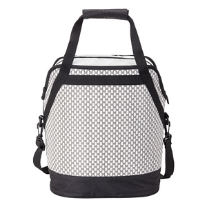 Woven Wicker Oval Cooler Bag - Water Tight Compartment Image 3