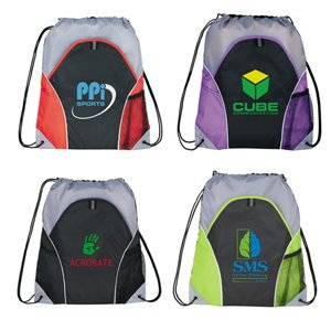 Sporty Drawstring Backpack Image 2