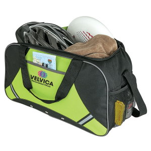 Reflective Safety Strips Sport Duffel - Promotional Bag Image 2