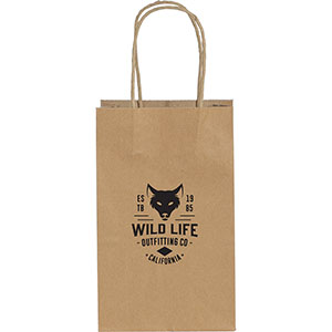 Mini Custom Printed Kraft Paper Bags Image 2