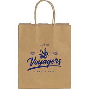 Small Custom Printed Kraft Paper Bags Image 2