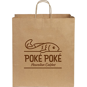 Large Custom Printed Kraft Paper Bags Image 2