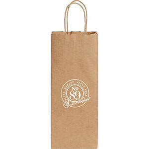 Wine Custom Printed Kraft Paper Bags Image 2
