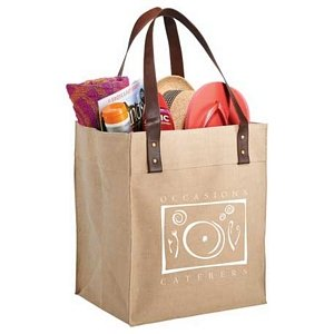 Jute Grocery Tote Image 2