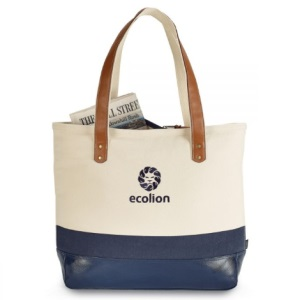 Zippered Cotton Tote