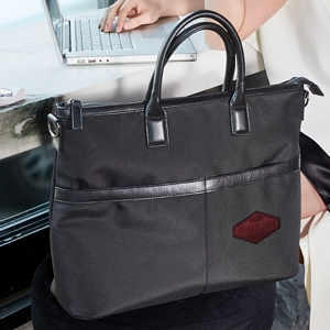 Downtown Classic Tote with Lasered Patch Image 2