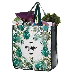 Laminated Palm Print Tote Bag