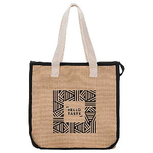 Jute Insulated Grocery Tote Image 2
