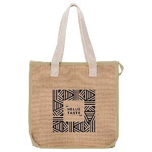 Jute Insulated Grocery Tote Image 3
