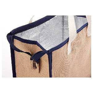 Jute Insulated Grocery Tote Image 4