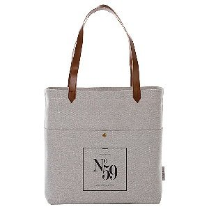 Cotton Multi Pocket Book Tote Bag 16 Oz