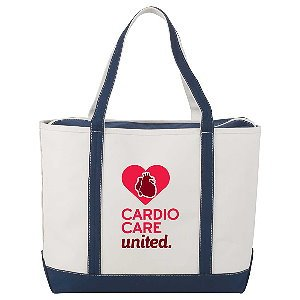 Heavy Duty Zippered Canvas Tote Bag Image 2