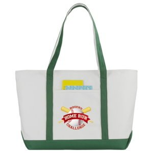 Zippered Custom Cotton Boat Tote Image 2