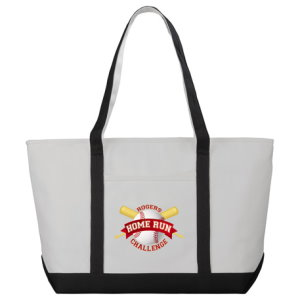 Zippered Custom Cotton Boat Tote Image 3