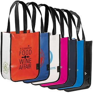 Laminated Non-Woven Small Tote Bags Image 2
