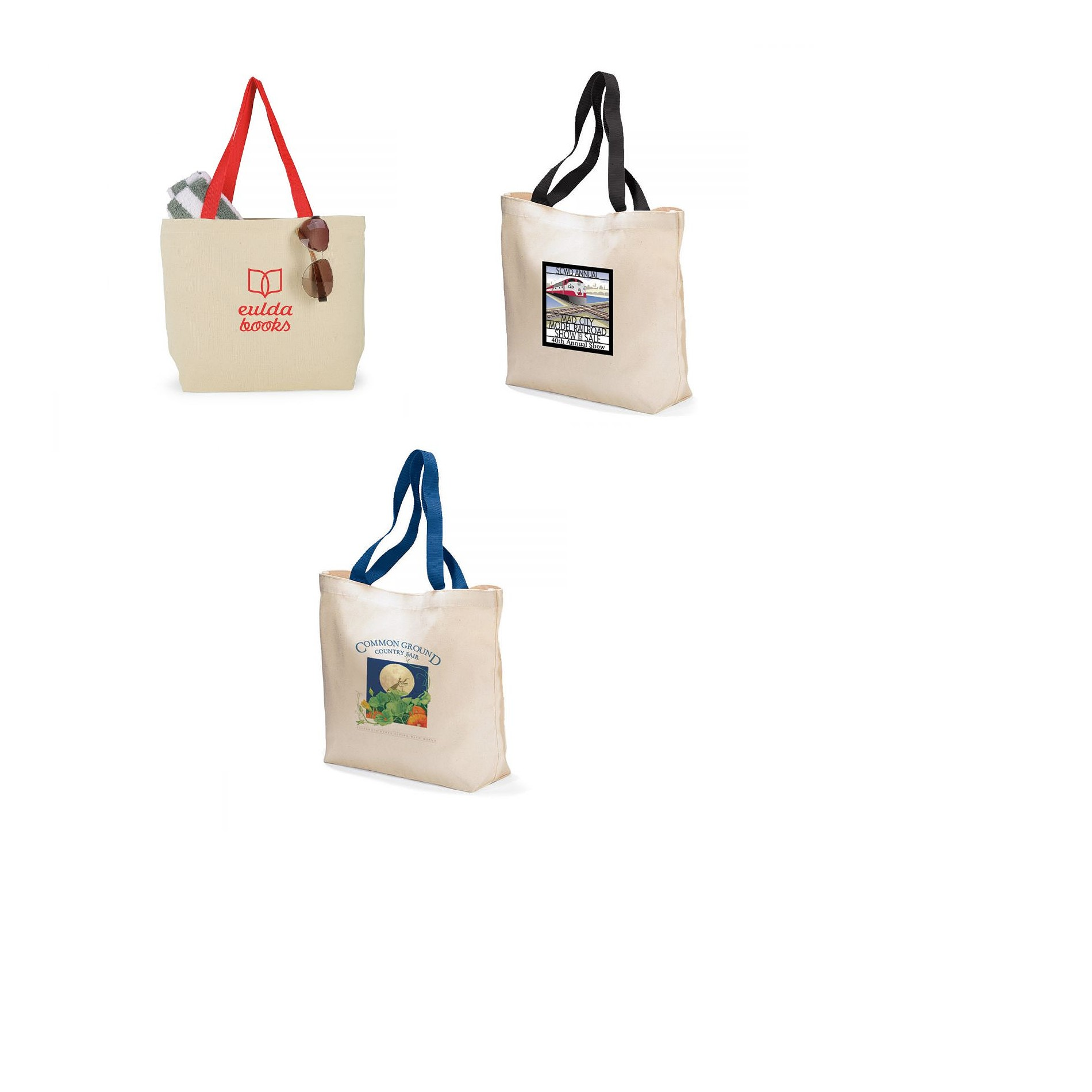 Colored Handle Tote Image 2