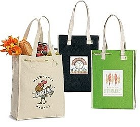 Eco-friendly Personalized Full-Size Grocery Bag Image 2
