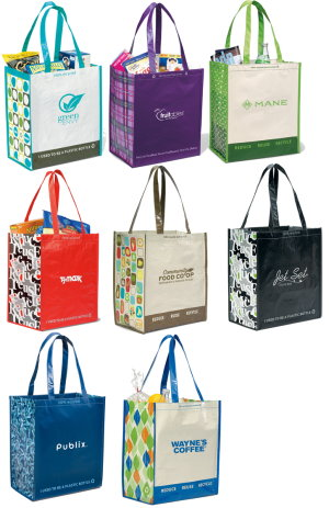 Laminated Eco Shopping Tote Bag Image 2