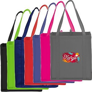 PolyPro Non-Woven Little Grocery Tote Bags Image 2