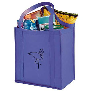 PolyPro Non-Woven Little Grocery Tote Bags Image 3