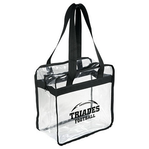 Clear Zippered Safety Tote Bags