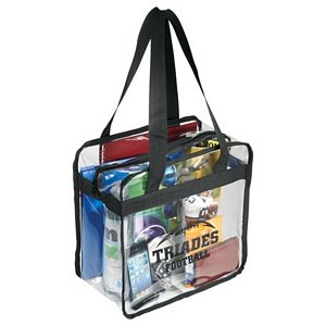 Clear Zippered Safety Tote Image 2