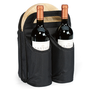 Double Wine Carrier & Cheese Kit
