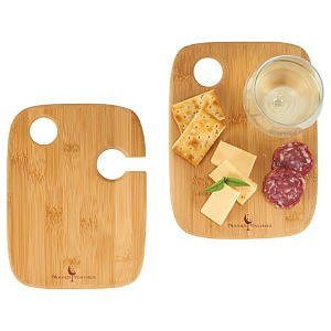 Bamboo 2-piece Wine Plate Set Image 2