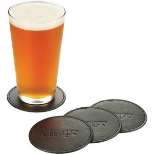 Premier Leather Coaster Sets Image 2