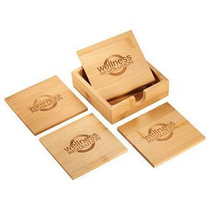 Bamboo Coaster Sets Image 2