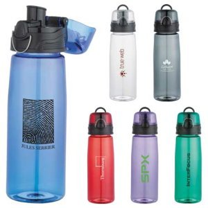 Press Button Sport Bottle 25 oz.- Useful Business Gift Image 2