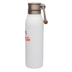 Acacia Lid Stainless Steel Water Bottle Image 2