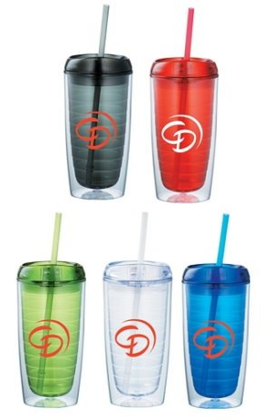 Twister 16-oz. Tumbler with Straw Image 2