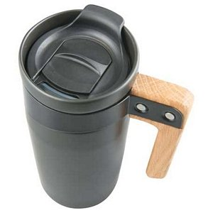Wood Handle Ceramic Mug 16oz - Promotional Business Gift Image 2