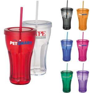 Fountain Soda Tumbler with Straw Image 2