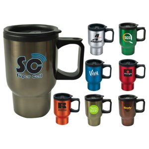 16 oz. Promotional Travel Mug Image 2