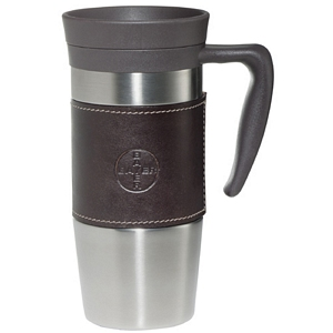 Cutter Buck Leather Wrap Stainless Mug