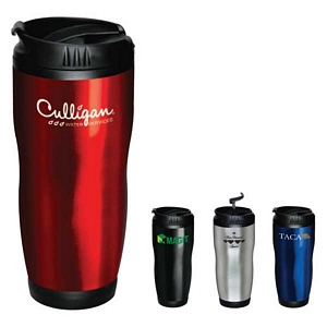 Double-Wall Stainless & Plastic Lining Travel Mugs