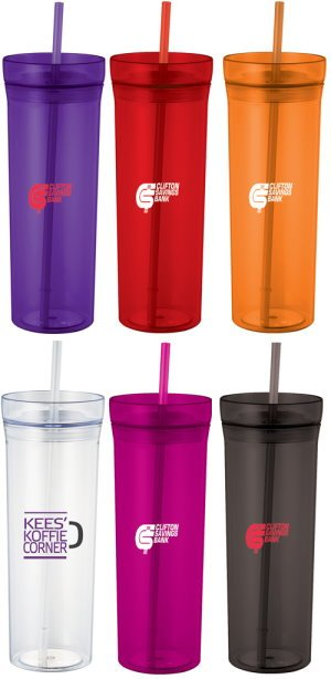 22-oz. Tumbler with Straw Image 2