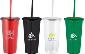 24-oz. Tumbler with Straw Image 2