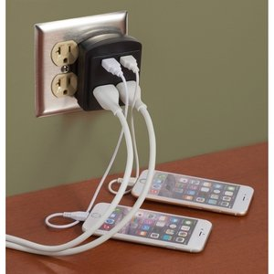 ETL Listed Clime Dual USB Outlet and AC Adapter Image 2