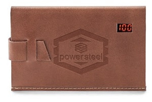 Debossed Leather Power Bank Image 3