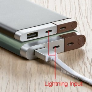 Corporate Gift Power Banks with Lightning Tip Image 2