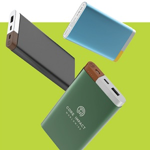 Corporate Gift Power Banks with Lightning Tip Image 3